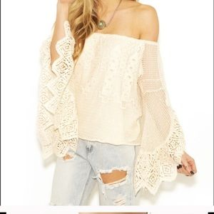 Jen's pirate booty ivory lace top s/p